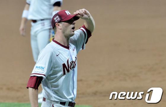 넥센 히어로즈 왼손 에이스 밴헤켄. 뉴스1 © News1 구윤성 기자