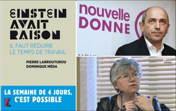 의 표지 사진(왼쪽)과 공저자인 피에르 라루튀루(오른쪽 위)와 도미니크 메다. 출처:nouvelle donne