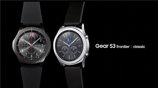 삼성의 시계형 웨어러블 기기 기어S3