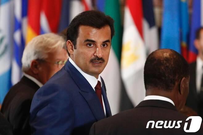 카타르의 셰이크 타밈 빈하마드 알사니 국왕. © AFP=뉴스1