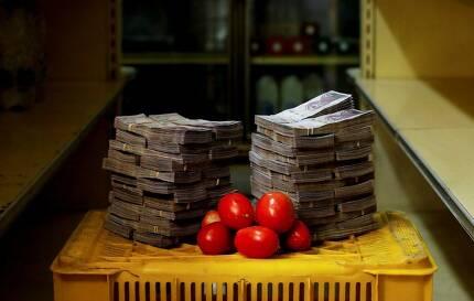 토마토 1㎏은 500만 볼리바르다.
