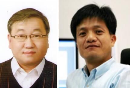 KIST 송진동 박사(왼쪽)와 연세대 조만호 교수 [한국과학기술연구원 제공=연합뉴스]