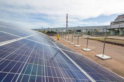 태양광발전소로 변신한 옛 체르노빌원자력발전소. 솔라체르노빌 제공
