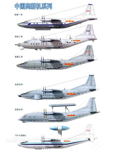 중국군은 Y-8과 Y-9 수송기를 기반으로 까오신 공정을 실시해 각종 정찰기와 해상초계기 그리고 조기경보기들을 만들어내고 있다 (사진=바이두)
