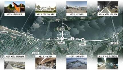 한강변 보행네트워크 기본구상안 [서울시 제공]