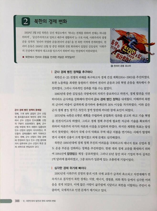 ▲ 북한 체제 소개 / 지학사