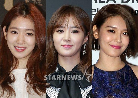 배우 박신혜, 소녀시대 유리, 수영(왼쪽부터) /사진=스타뉴스