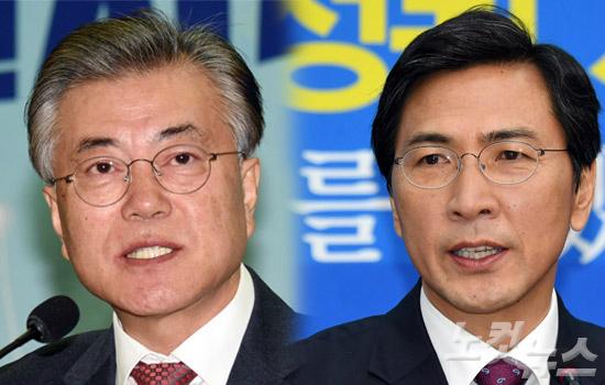 더불어민주당 문재인 전 대표와 안희정 충남도지사 (사진=자료사진)