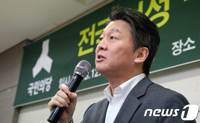 국민의당 전당대회에 출마한 안철수 전 대표의 달라진 헤어스타일. 2017.8.12/뉴스1 © News1 장수영 기자