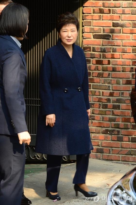 박근혜 전 대통령이 21일 검찰에 출석했다. /사진=홍봉진 기자