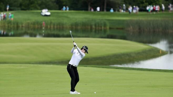 박성현이 6번홀에서 샷을 하고 있다. 미국골프협회(USGA) 제공