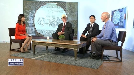 22일 오전 방송 된 아리랑 TV 뉴스토론 '포린 코레스폰던츠' [사진 아리랑TV]