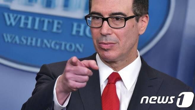 스티븐 므누신 미국 재무장관. (자료사진) © AFP=뉴스1