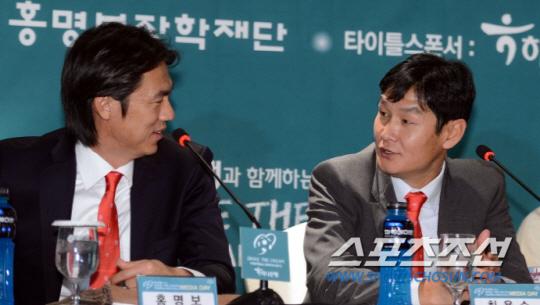 ◇홍명보(왼쪽), 최용수 감독. 스포츠조선DB