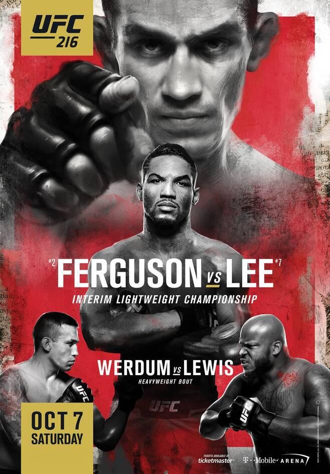 ▲ UFC 216 포스터는 곧 바뀔 전망이다.
