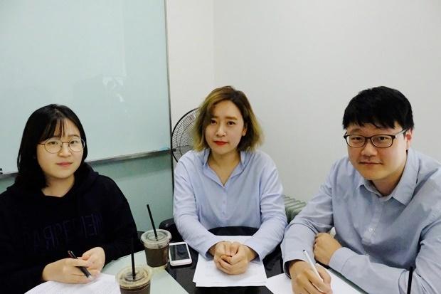 사진=왼쪽부터 김민경 매니저, 남궁소정 팀장, 정창훈 팀장
