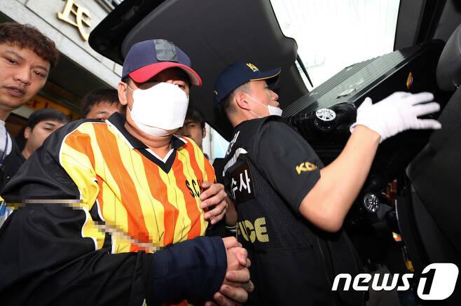 여중생 살해·시신 유기 혐의를 받고 있는 '어금니 아빠' 이영학(35). 2017.10.11/뉴스1 © News1 오대일 기자