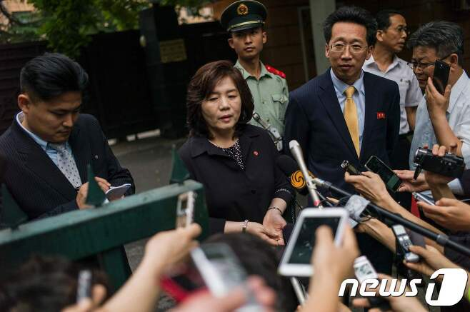 최선희 북한 외무성 북미국장. © AFP=뉴스1