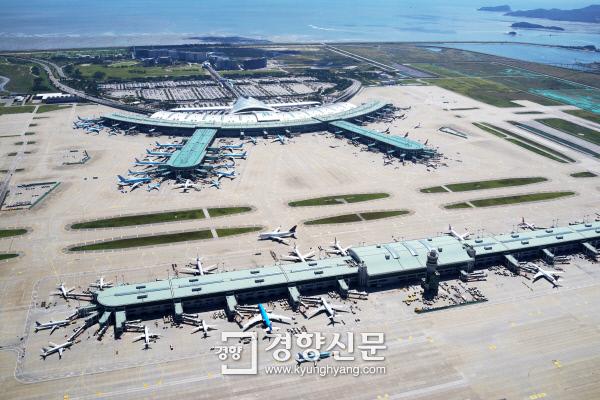 인천공항 제1여객터미널과 탑승동 모습 인천국제공항공사 제공