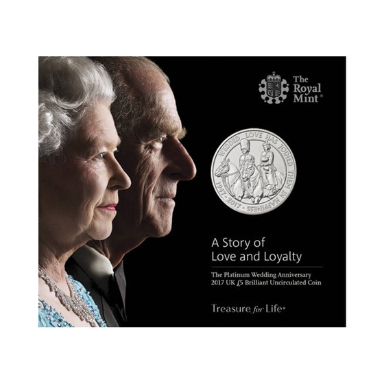 엘리자베스 여왕과 필립공의 결혼 70주년 플래티넘 웨딩을 기념하는 주화가 발행됐다. [사진 중앙포토]