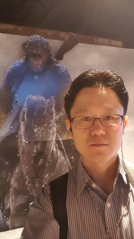 올해 광복절날 서울 용산의 한 극장에서.