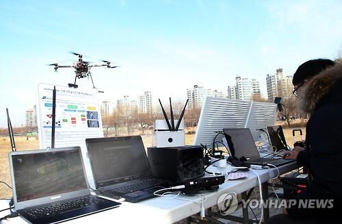 드론을 이용한 공간정보 수집 연합뉴스 자료 사진