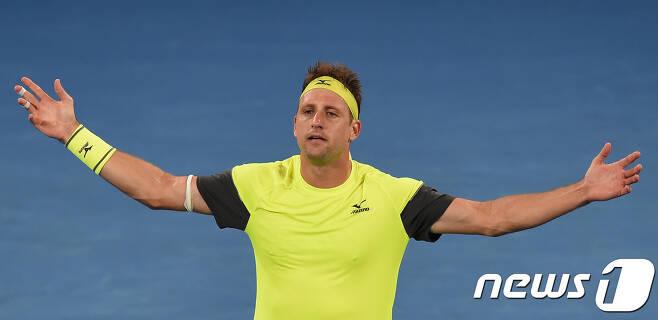 호주오픈 8강에 오른 세게랭킹 97위 테니스 샌드그렌. © AFP=News1