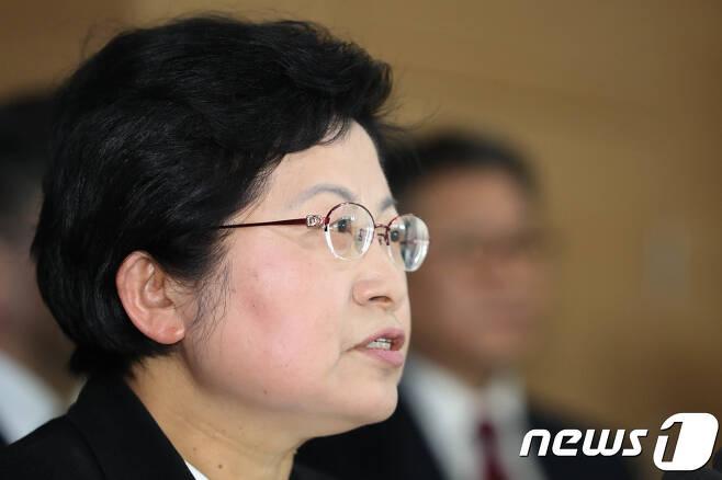 정현백 여성가족부 장관 © News1 성동훈 기자