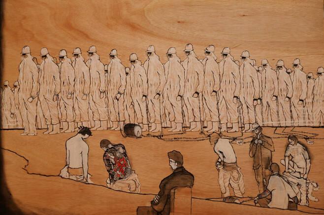 '2012년 8월22일에 죽은 하청 노동자'