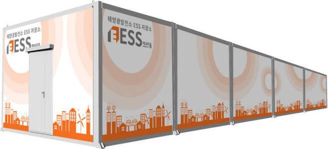 비에이에너지가 태양광 발전소 ESS를 채택해 개발한 'ESS에너지홈'.