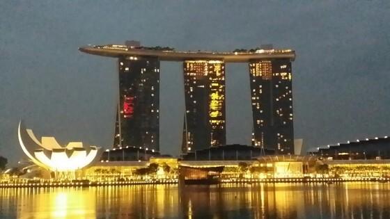 싱가포르 시내 중심가의 마리나베이 복합리조트 전경