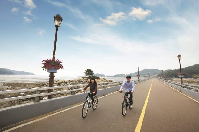 신시모도 자전거 여행. 공항철도 제공
