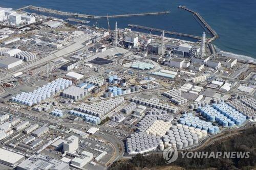 도쿄전력 후쿠시마제1원자력발전소 [교도=연합뉴스 자료사진] 2011년 동일본대지진 때 폭발사고가 발생한 도쿄전력 후쿠시마제1원자력발전소의 모습.