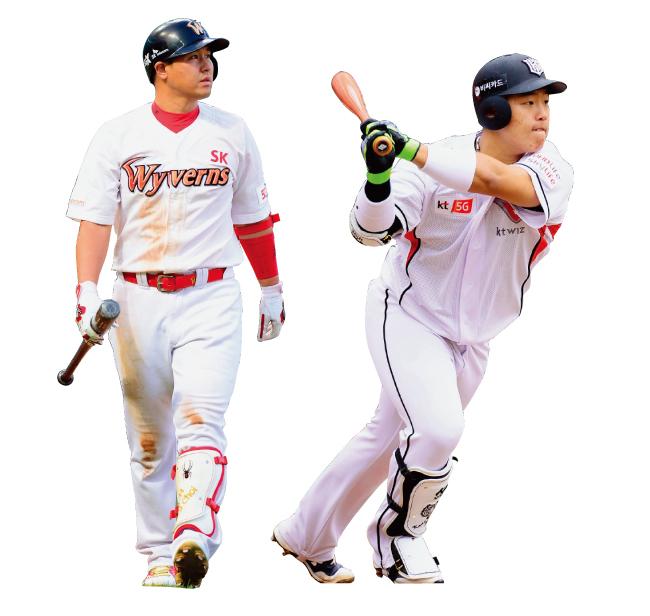 KBO 정규리그에서 마지막으로 마운드에 오른 야수인 최정(SK 와이번스).(왼쪽) 한국의 오타니 쇼헤이라는 별명을 가진 KBO 신인 강백호(kt 위즈). [동아DB]