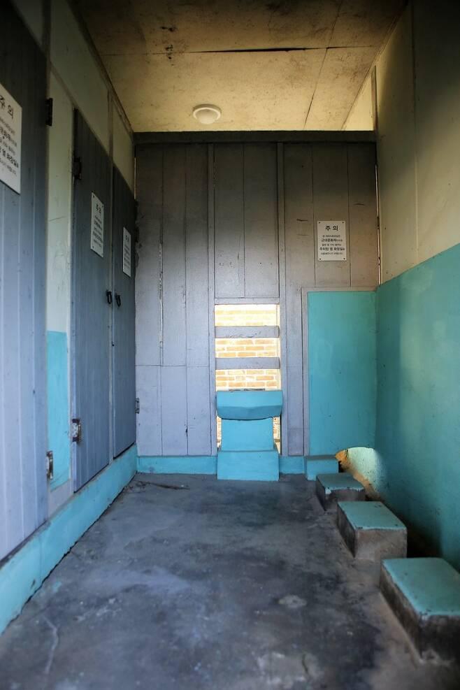 임피역 등록문화재 화장실. 이병학 선임기자