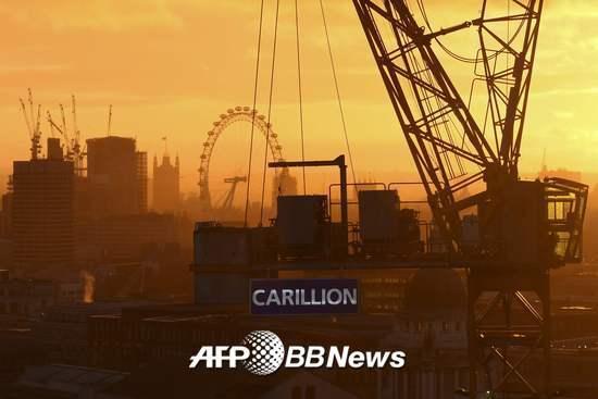 올해 초 파산한 영국 2위 건설업체 카릴리언의 영국 런던 시공 현장의 모습. /AFPBBNews=뉴스1