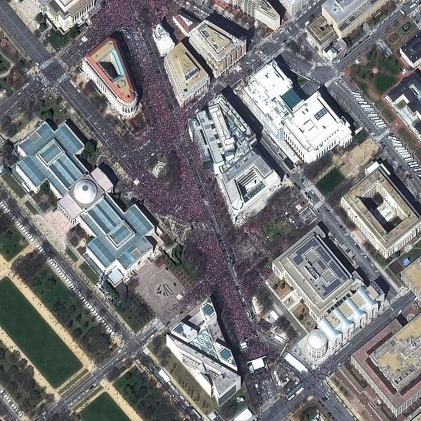 미국 수도 워싱턴에서 열린 `우리의 생명을 위한 행진'.