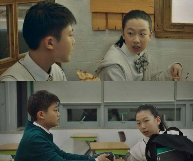 이유진은 'SKY 캐슬'에서 강예빈 역을 맡은 배우 이지원과 붙는 장면이 많았다. (사진='SKY 캐슬' 캡처)