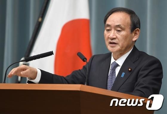 스가 요시히데(菅義偉) 일본 관방장관. © AFP=뉴스1
