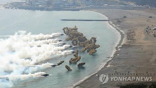 한미 연합상륙훈련 장면 [연합뉴스 자료사진]