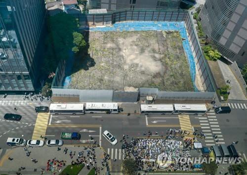 주한 일본대사관 신축 건물 부지/연합뉴스