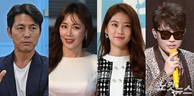 왼쪽부터 배우 정우성, 문정희, 공승연, 가수 이승환 (사진=노컷뉴스 자료사진)