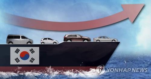 자동차 수출액 6.7% 증가(PG)