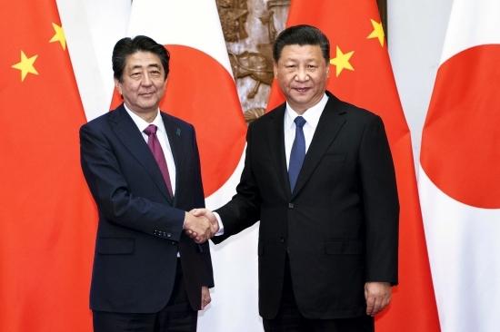 아베 신조 일본 총리, 시진핑 중국 국가주석. 신화 뉴시스