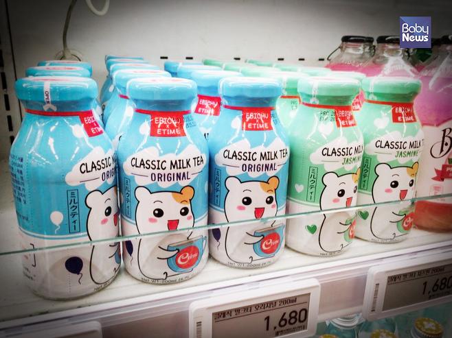 빼곡히 자리잡은 일본 음료들의 모습. 김재호 기자 ⓒ베이비뉴스