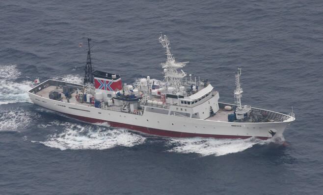일본 수산청의 어업지도선. [일본 수산청]