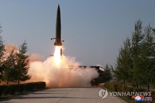 북한, 신형 단거리 미사일 [연합뉴스 자료사진]