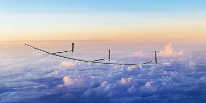 에어버스의 경쟁업체 보잉이 개발 중인 태양광 드론 '오디세우스'. 오로라 플라이트 사이언스 제공