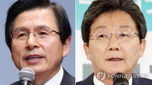 자유한국당 황교안 대표(왼쪽), 바른미래당 유승민 의원 [연합뉴스TV 제공]