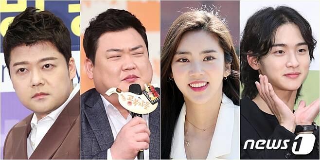 전현무(왼쪽부터) 김준현 손담비 장동윤 © 뉴스1 DB